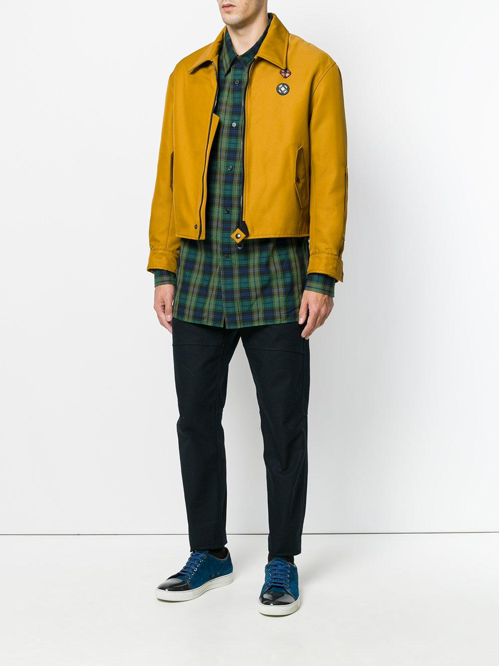 Lanvin Cotton Casual Checked Shirt in Green for Men