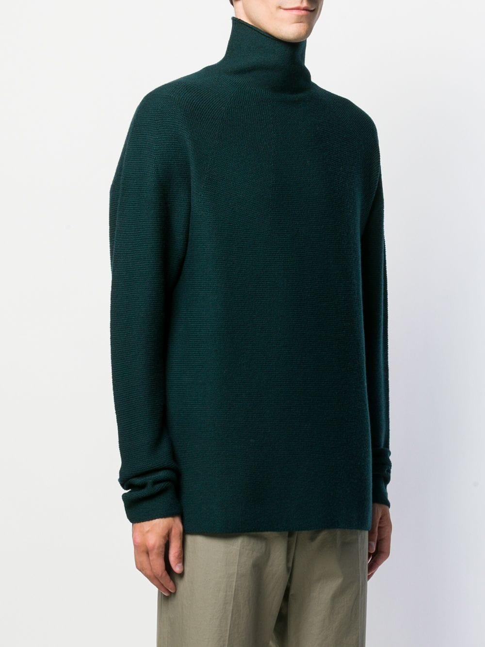 Pull sans coutures à col roulé Christian Wijnants pour homme en coloris Vert