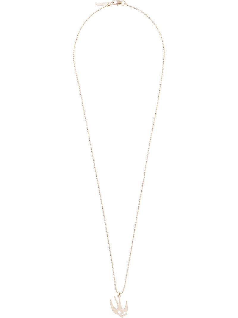 Alexander McQueen swallow necklace - Metallic 5FfUbh