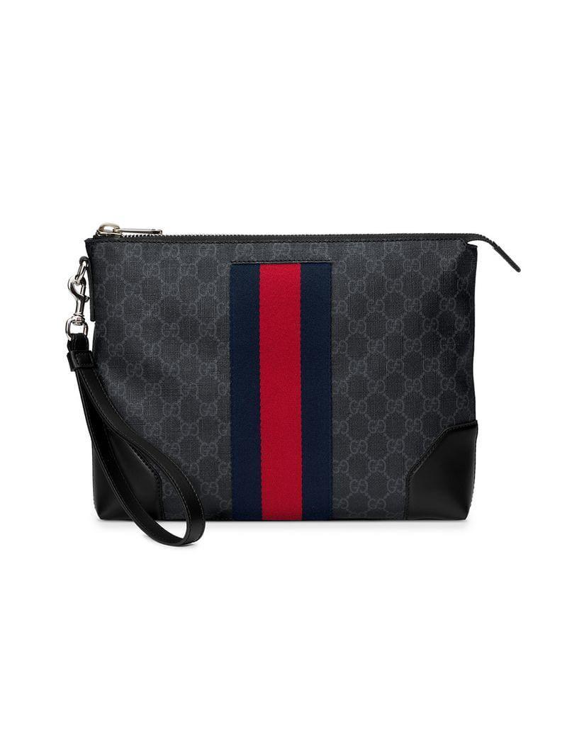 9f8902a9ab87 Gucci GG Supreme Men s Bag in Black for Men - Lyst