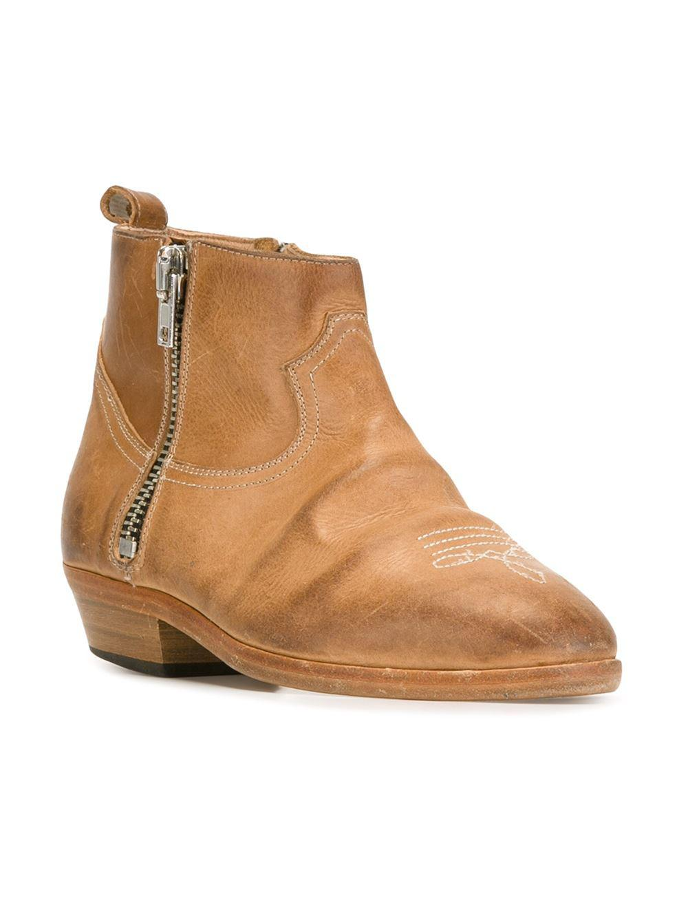Golden Goose Deluxe Brand Leather 'viand' Boots in Natural