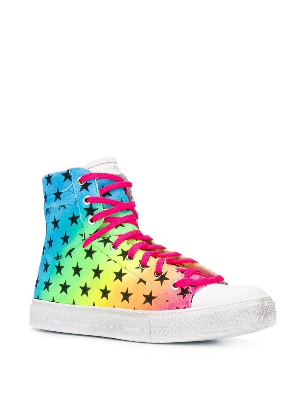 Amiri Katoen High Top Sneakers in het Wit voor heren