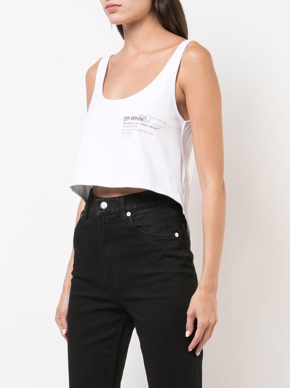 2141bfaaa4d ... Virgil Abloh - White X The Webster Cropped Tank Top. View fullscreen
