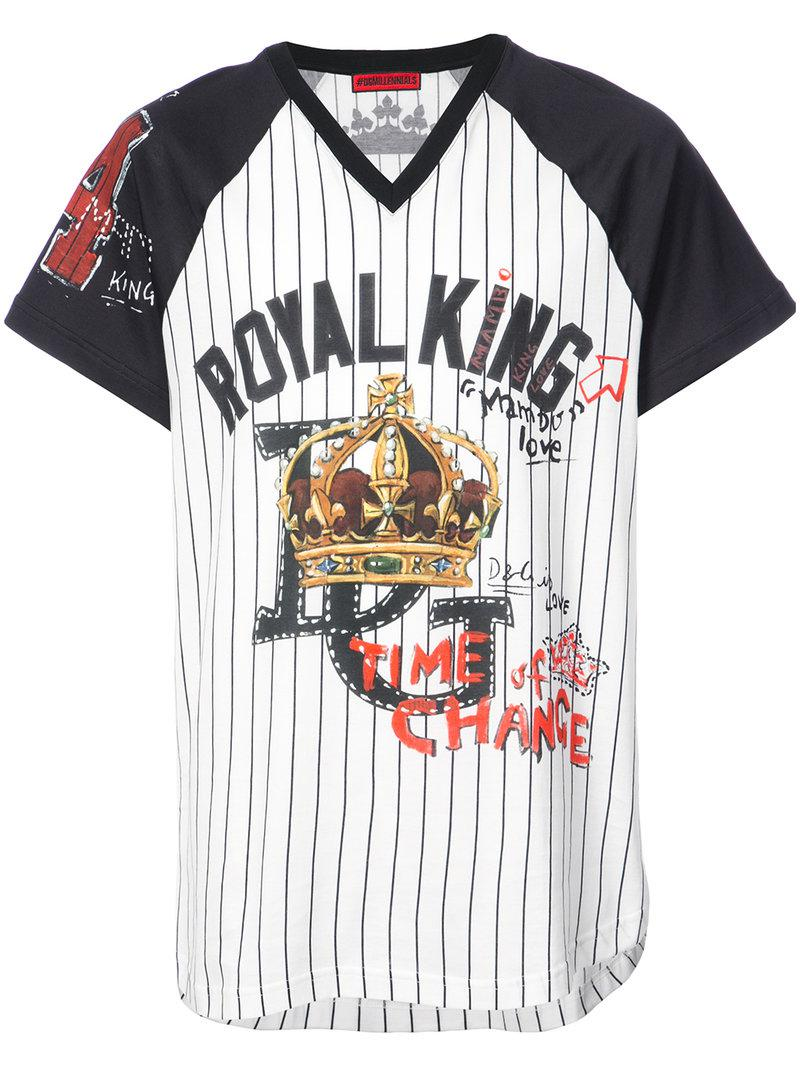 Free Shipping Cheapest Price Under 50 Dollars Royal King baseball T-shirt - White Dolce & Gabbana Deals Cheap Online ZLLYxehi
