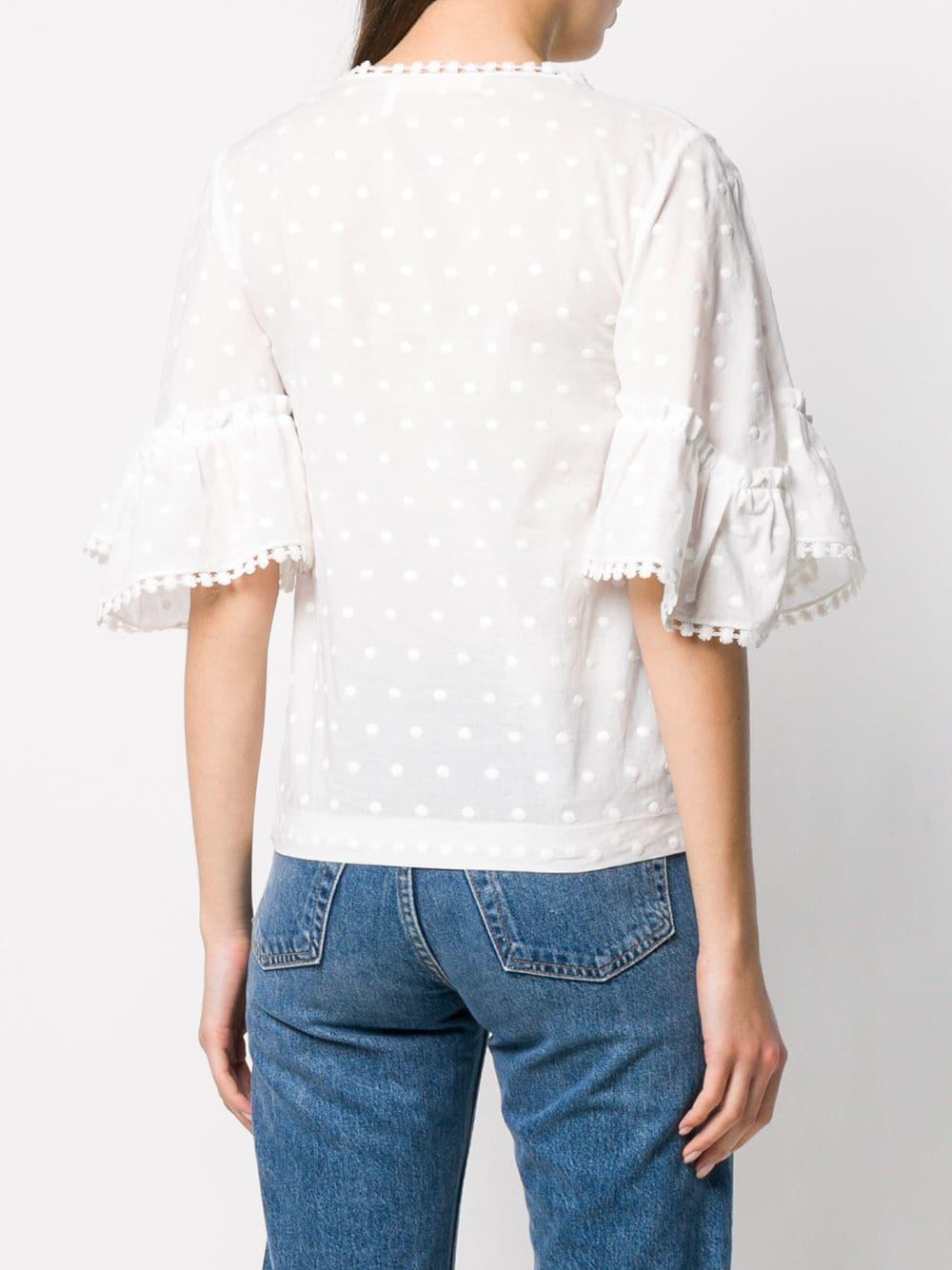 Blouse à broderies Coton See By Chloé en coloris Blanc