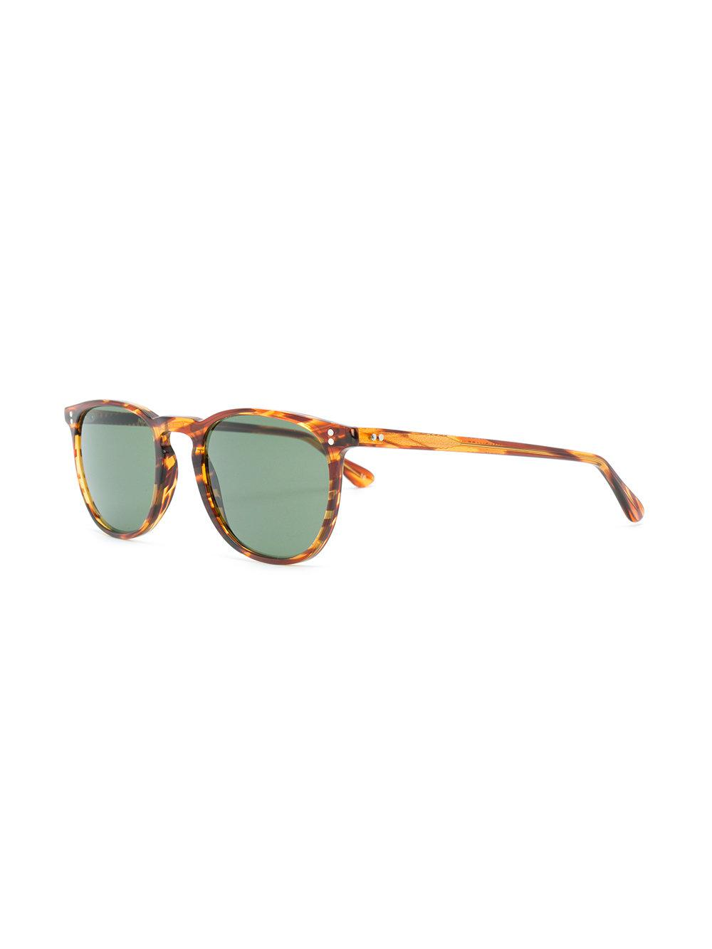 Lgr Streak Effect Round Frame Sunglasses in Brown