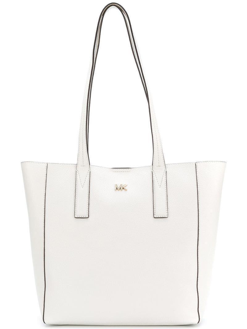 186e3a1e53a6 Lyst - MICHAEL Michael Kors Logo Tote Bag in White - Save 61%