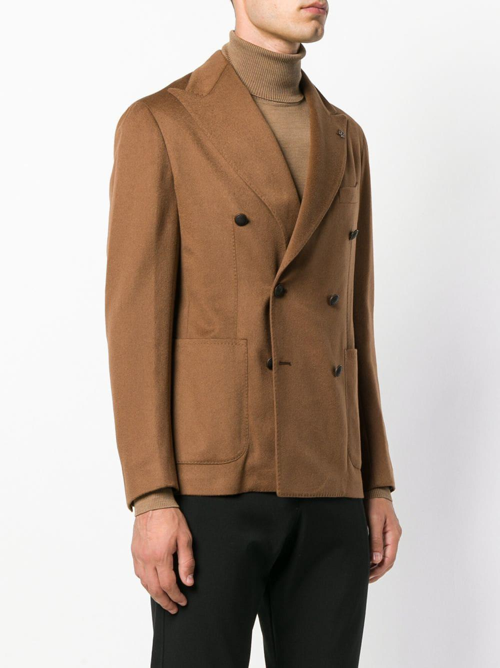 Tagliatore Double-breasted Jacket in Brown for Men