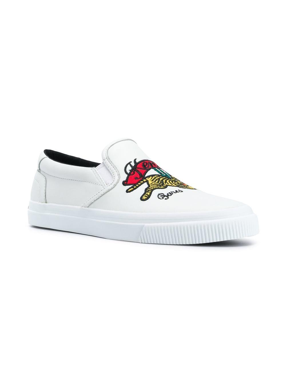 fe782e8206b Lyst - KENZO K-skate Jumping Tiger Sneakers in White - Save  36.09756097560975%