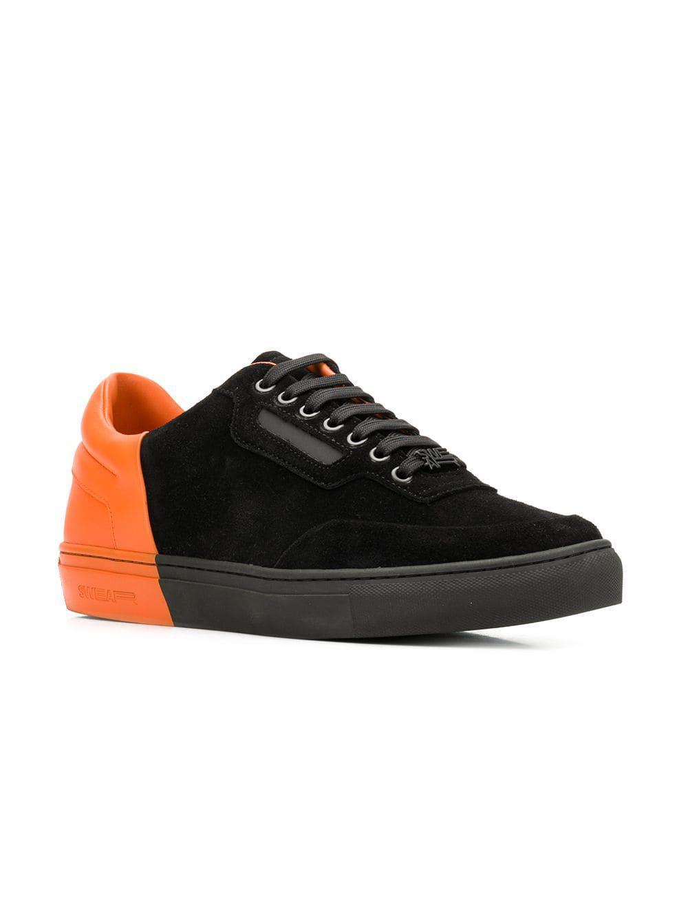 Swear Leer Mitch Sneakers in het Zwart voor heren