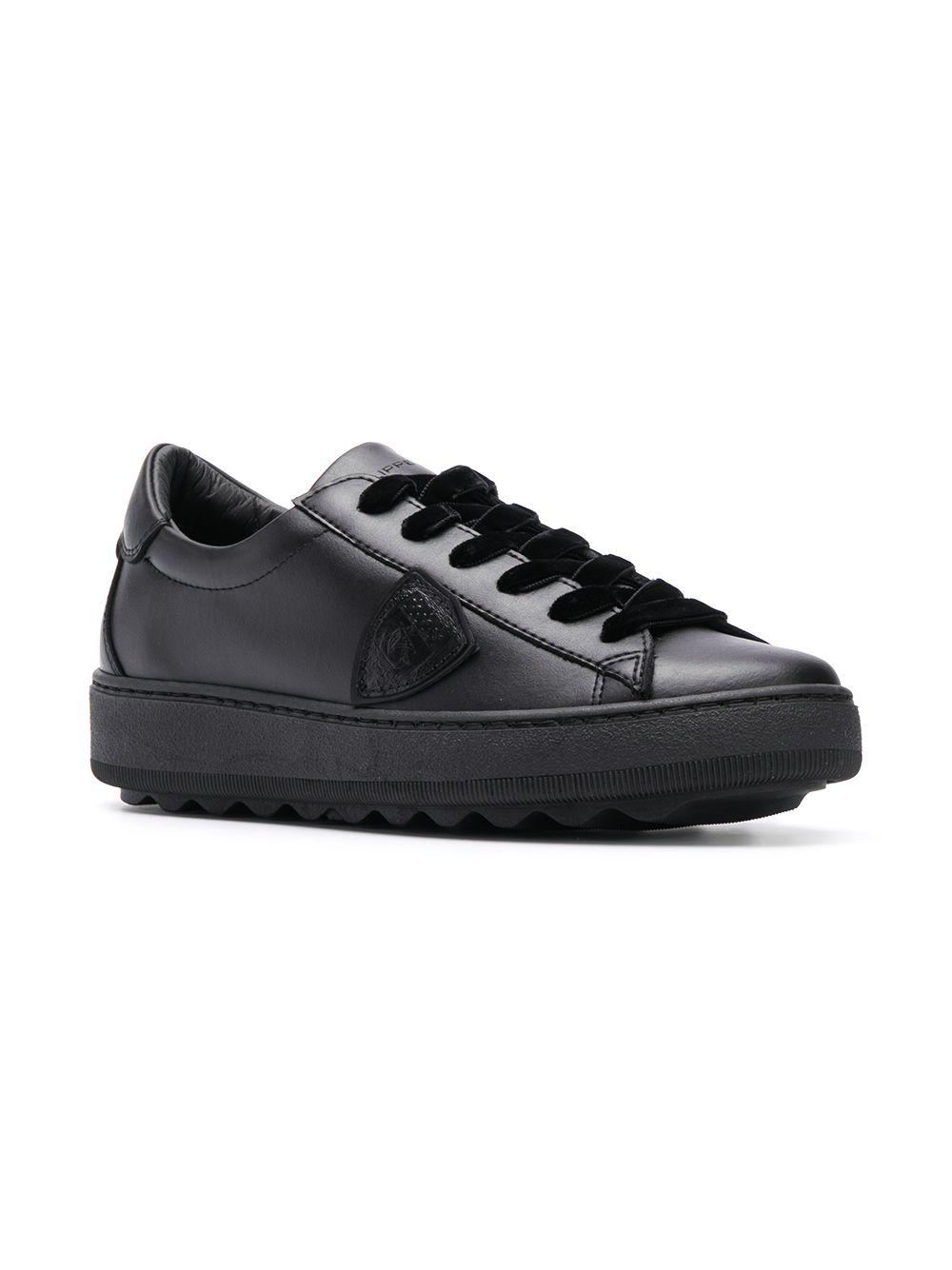 Philippe Model Leather Medeleine Sneakers in Black