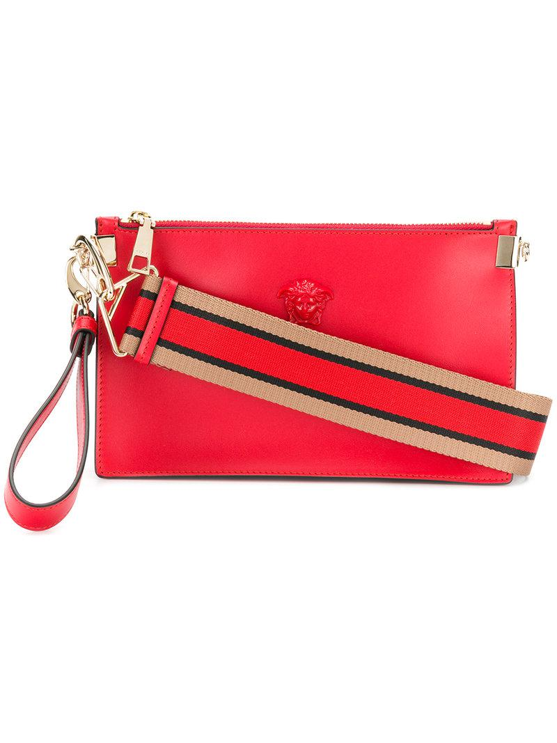 8657f625a9 Lyst - Versace Palazzo Medusa Wristlet Clutch Bag in Red - Save 23%