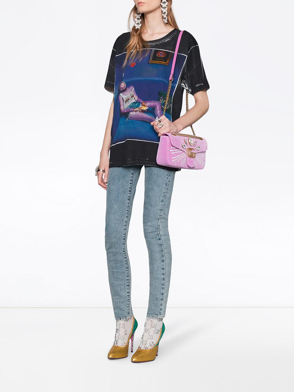 02bb9c19a104a Lyst - T-shirt à imprimé Ignasi Monreal Gucci en coloris Noir