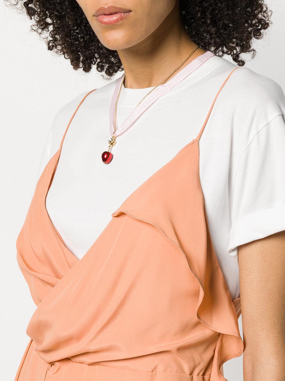 Miu Miu Silk Apple Necklace