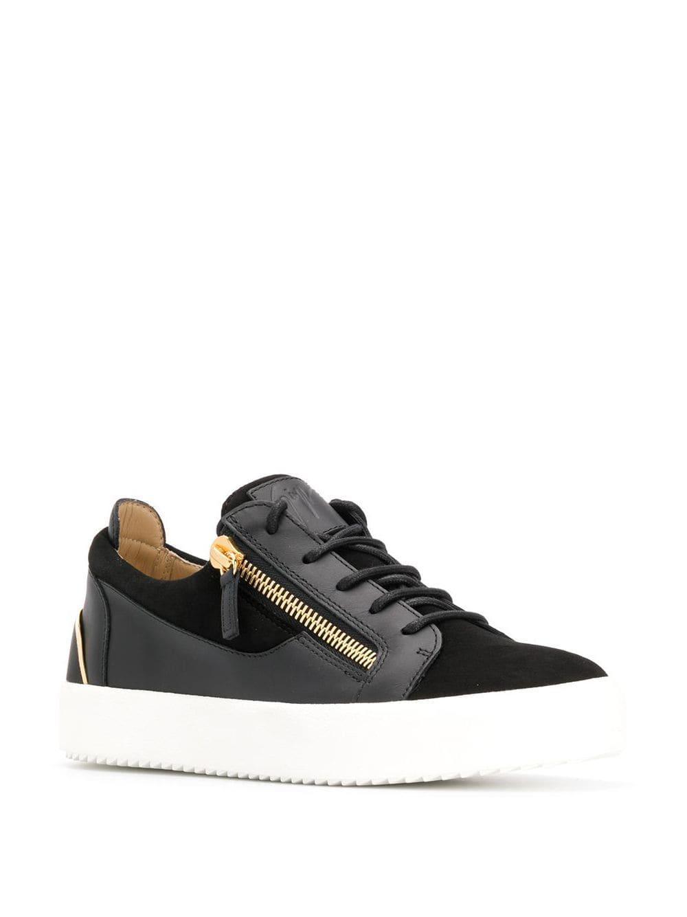 Giuseppe Zanotti Suède Low-top Sneakers in het Zwart voor heren