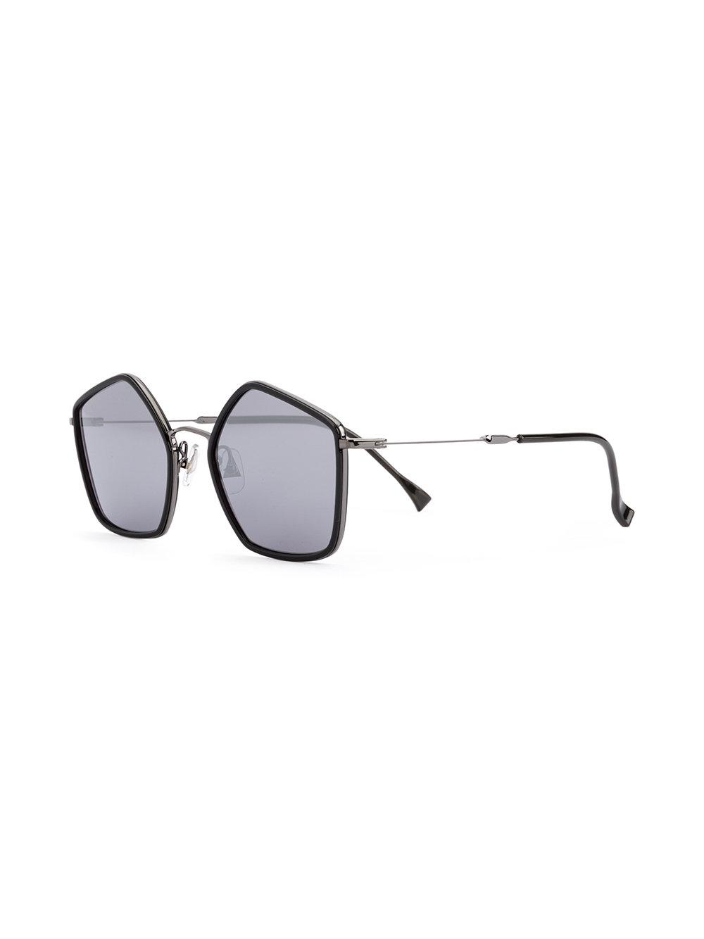 Issey Miyake Pentagon Iv Sunglasses in Black