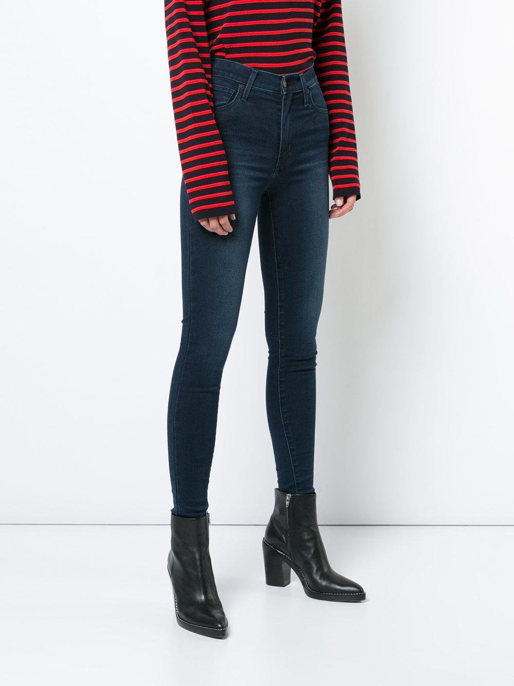 Levi's Denim Super Skinny Jeans in Blue