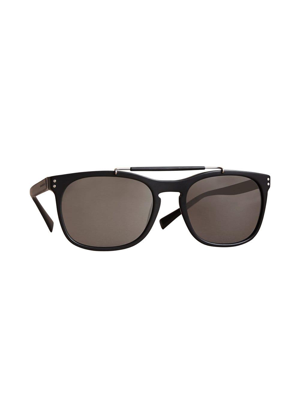 Burberry Top Bar Square Frame Sunglasses in Black