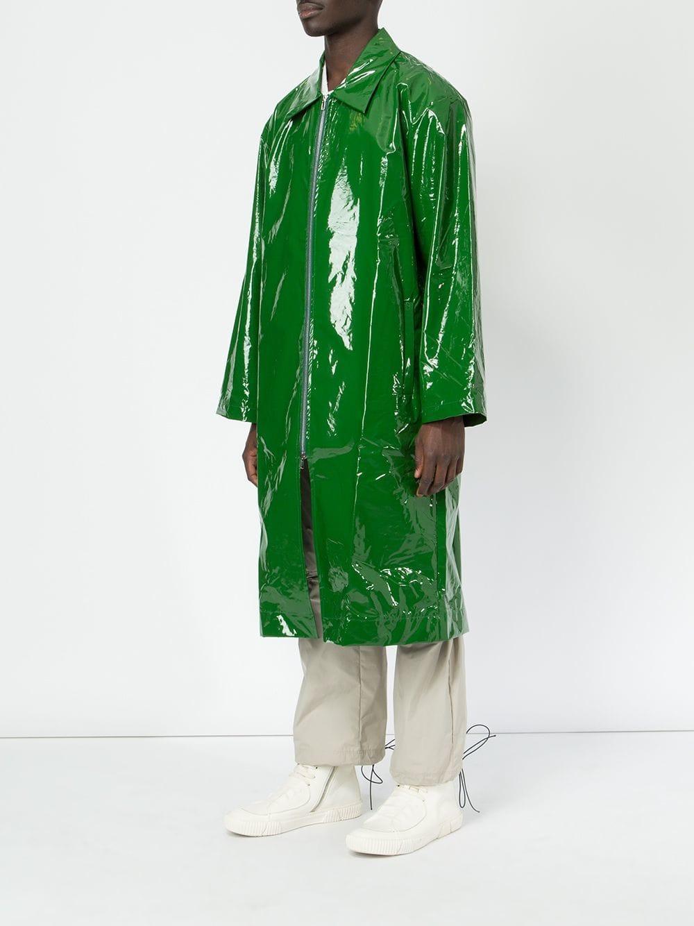 A_COLD_WALL* Katoen Vernierde Midi-jas Met Rits in het Groen voor heren