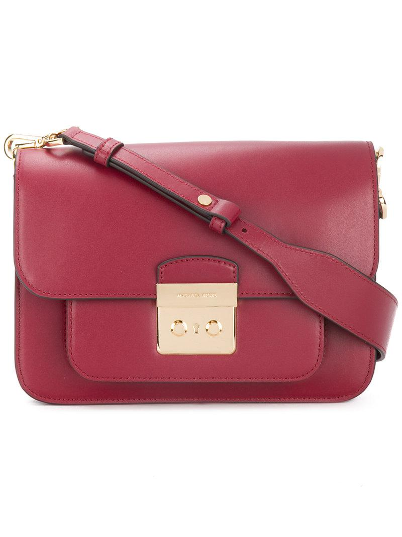 13149eb204a63 Lyst - MICHAEL Michael Kors Sloan Editor Shoulder Bag in Red
