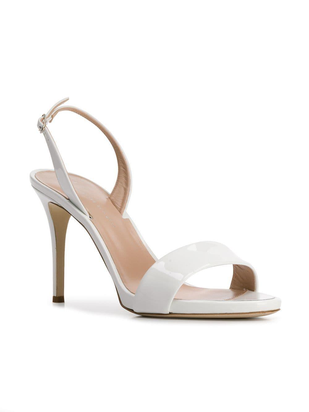 eef7bfd4d916 Giuseppe Zanotti - White Sofia Slingback Sandals - Lyst. View fullscreen