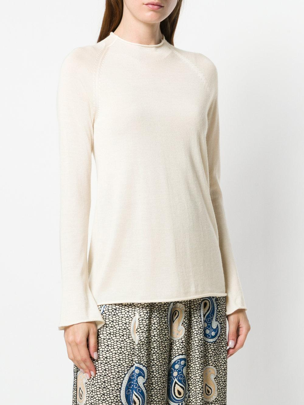 Forte Forte Silk Slim Fit Top in Natural