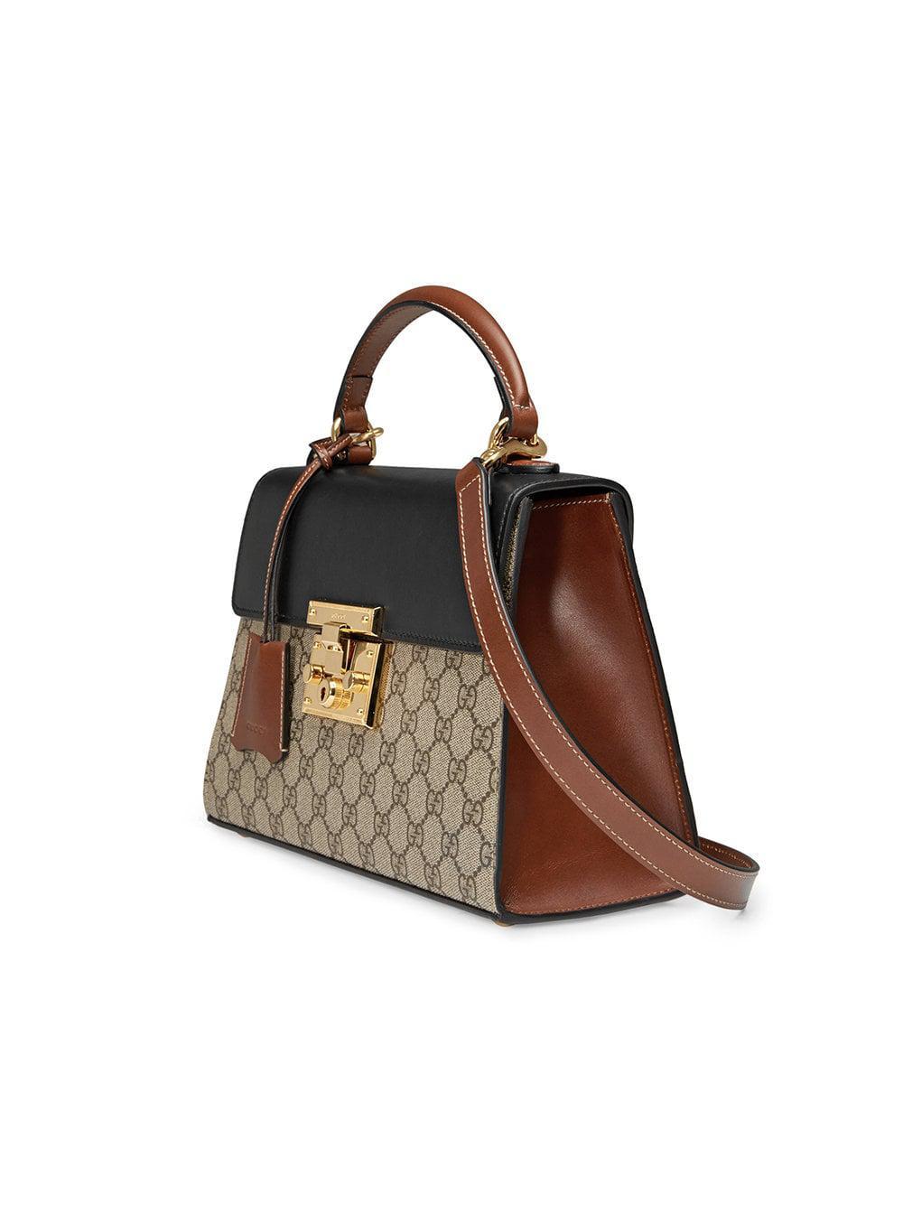 758f5af92a Gucci - Multicolor Borsa A Mano Padlock In Tessuto Gg Supreme - Lyst. View  fullscreen