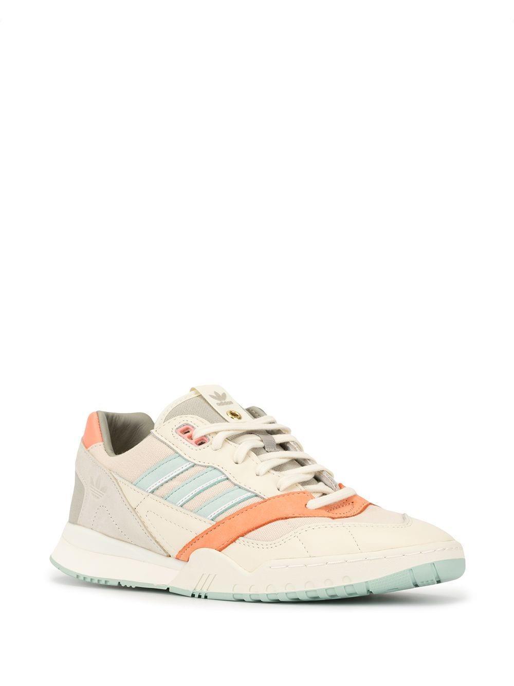 adidas Leer Sneakers Met Colourblocking in het Bruin voor heren