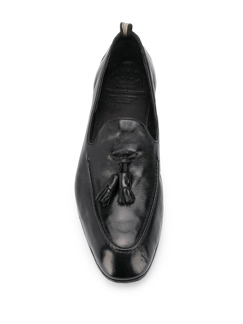 Mocasines Lemierre con borla Officine Creative de Cuero de color Negro para hombre