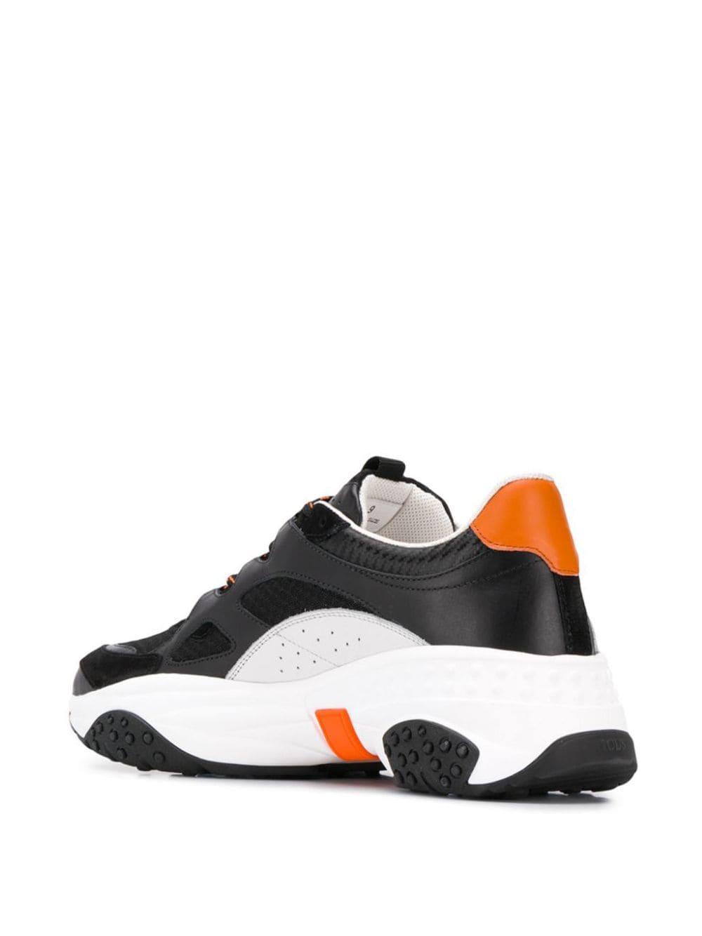 Zapatillas Active con cordones Tod's de Cuero de color Negro para hombre
