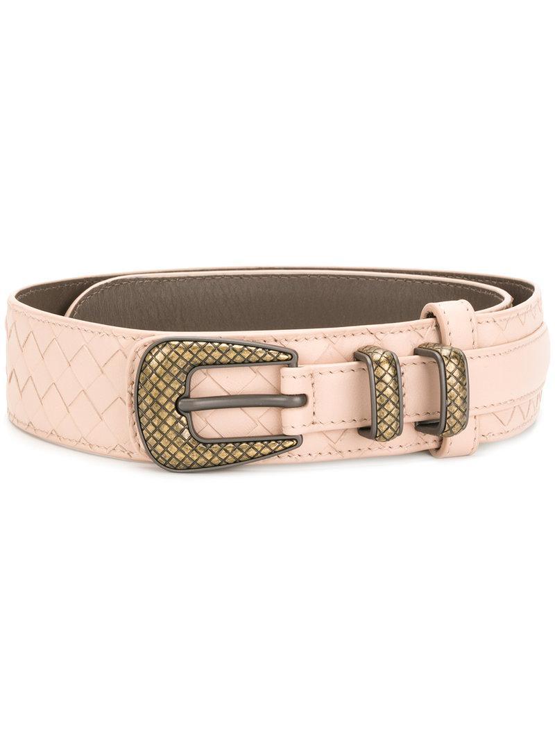 Pink Intrecciato Belt Bottega Veneta M5f2iMr1w8