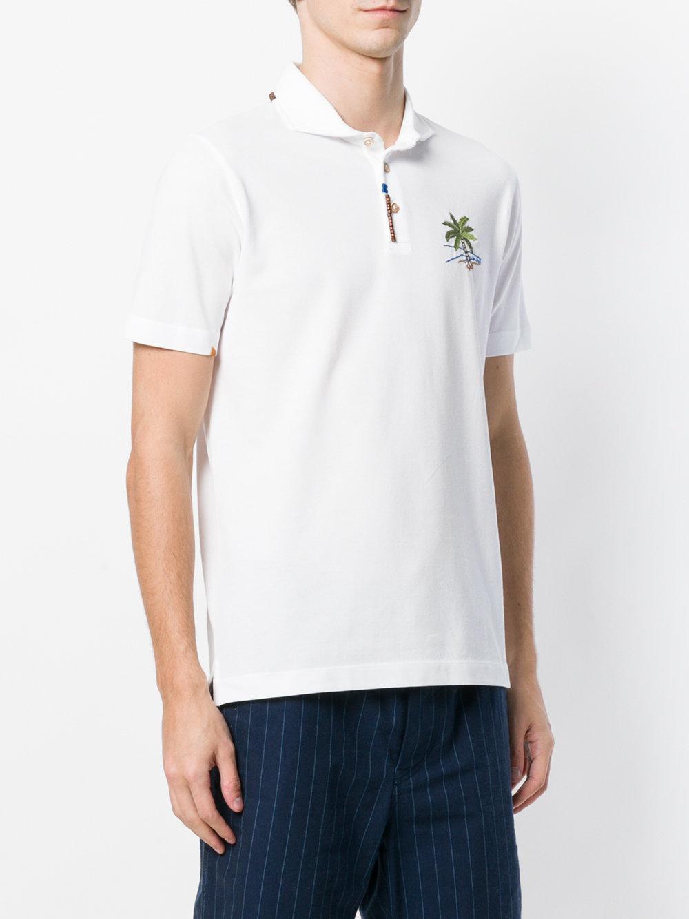 Altea White Cotton Polo Shirt for Men