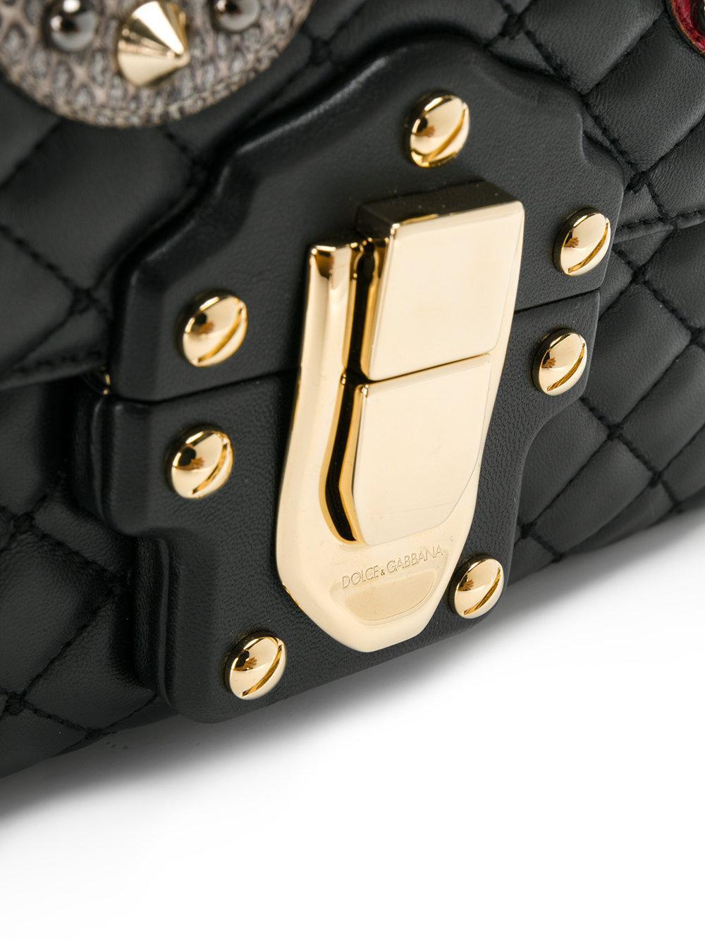 Dolce   Gabbana - Black Lucia Quilted Shoulder Bag - Lyst. View fullscreen a8b4dcae5e294