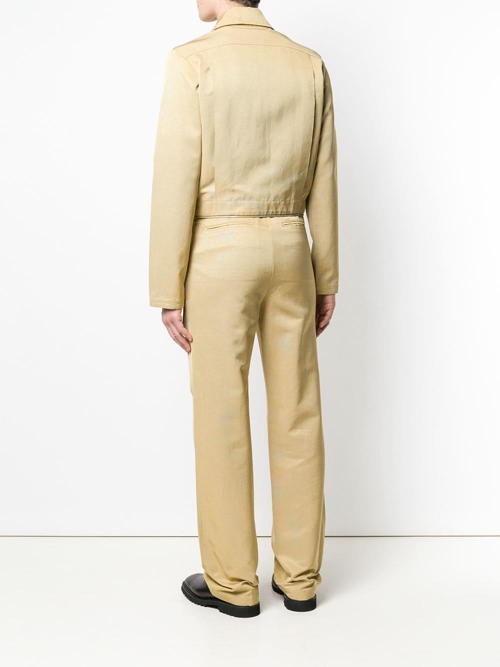 Mackintosh 0004 Synthetisch Tweedelig Jumpsuit in het Metallic voor heren
