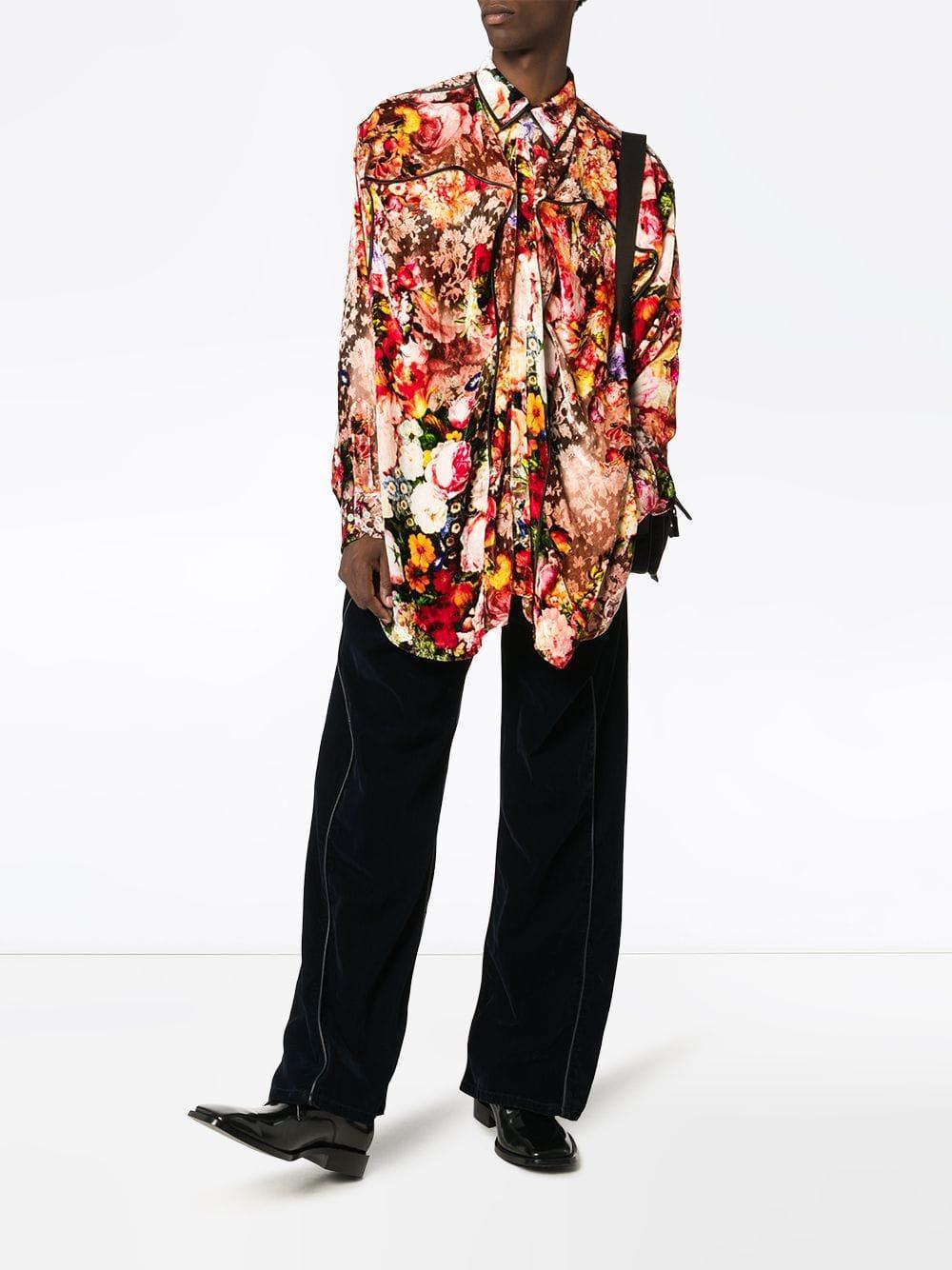 Y. Project Synthetisch Overhemd Met Bloemenprint voor heren