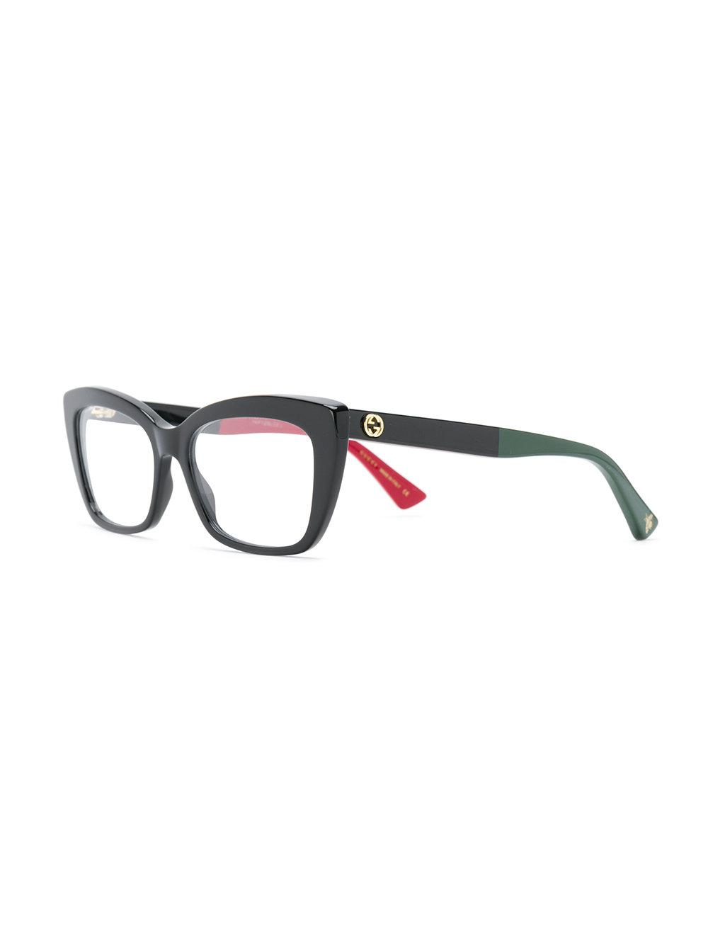 305104d708 Lyst - Gucci Cat-eye Glasses in Black