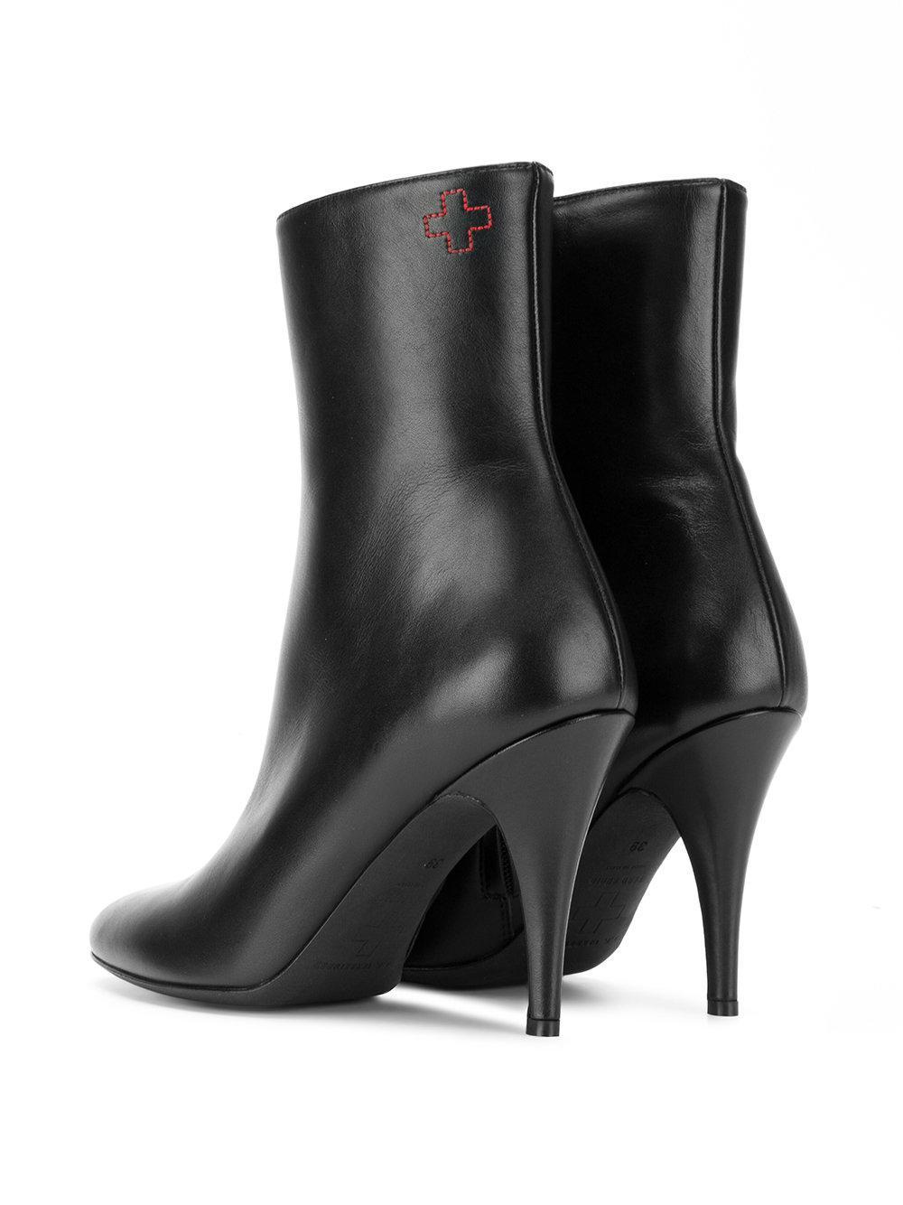 Botines con tacón stiletto alto A.F.Vandevorst de Cuero de color Negro