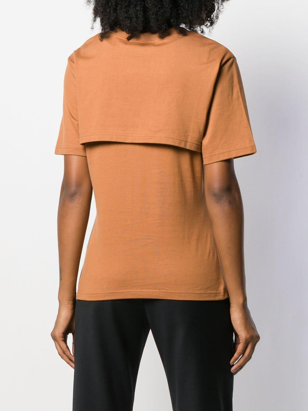 Camiseta con logo estampado Ambush de color Marrón