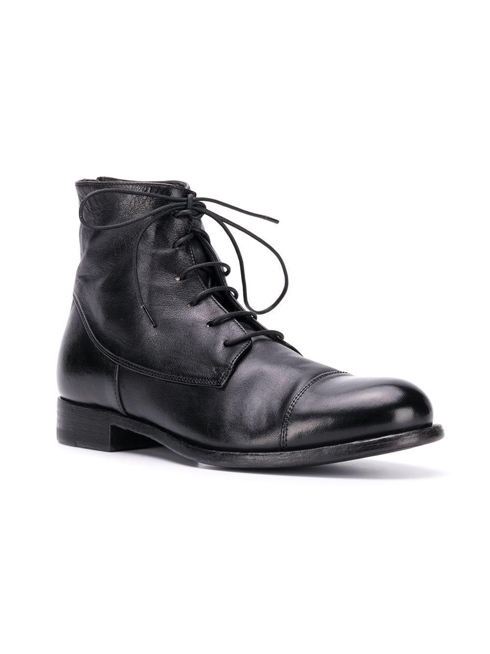 c77f530c34bc3 Lyst - Pantanetti Ankle Lace-up Boots in Black
