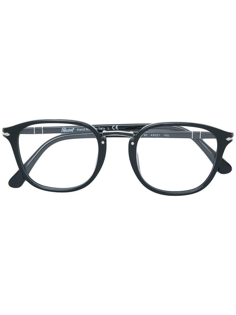 f156e542126fbf Lyst - Lunettes à monture carrée Persol pour homme en coloris Noir