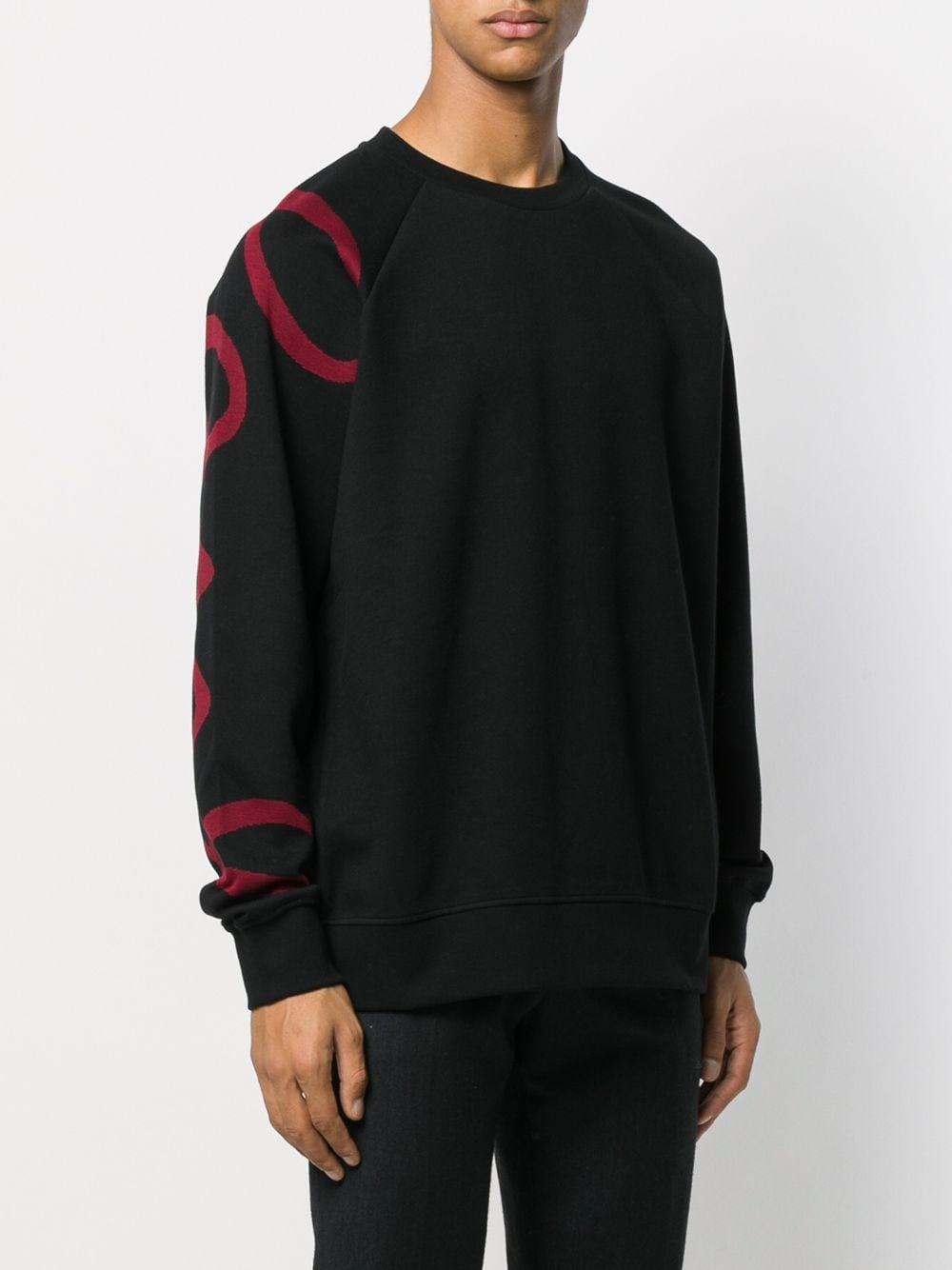 Paul Smith Sweater Met Print in het Zwart voor heren