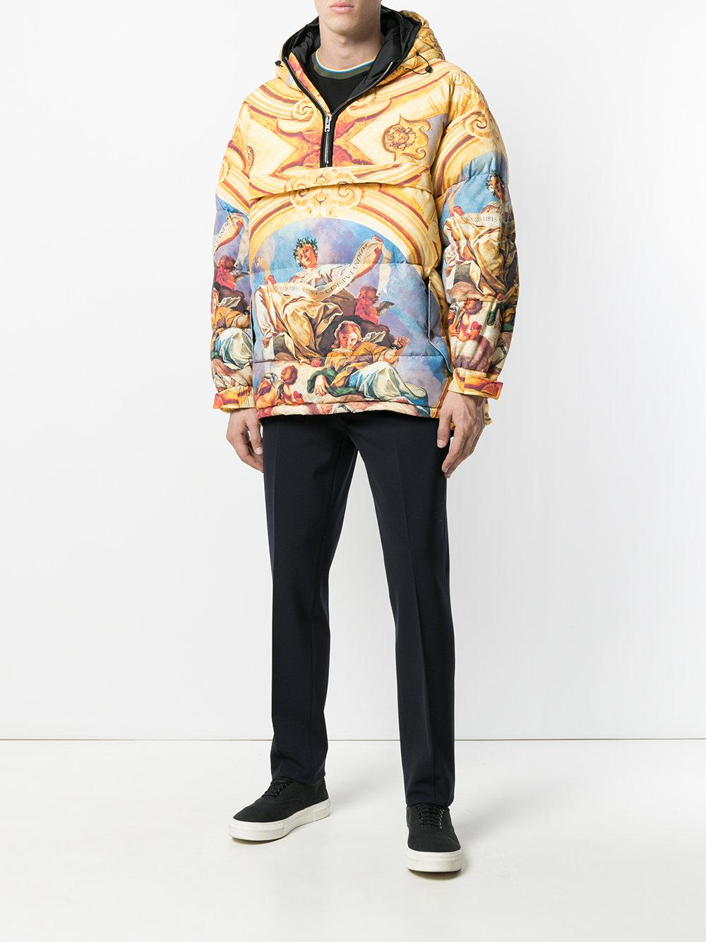 Moschino Synthetic Fresco Print Padded Cagoule for Men