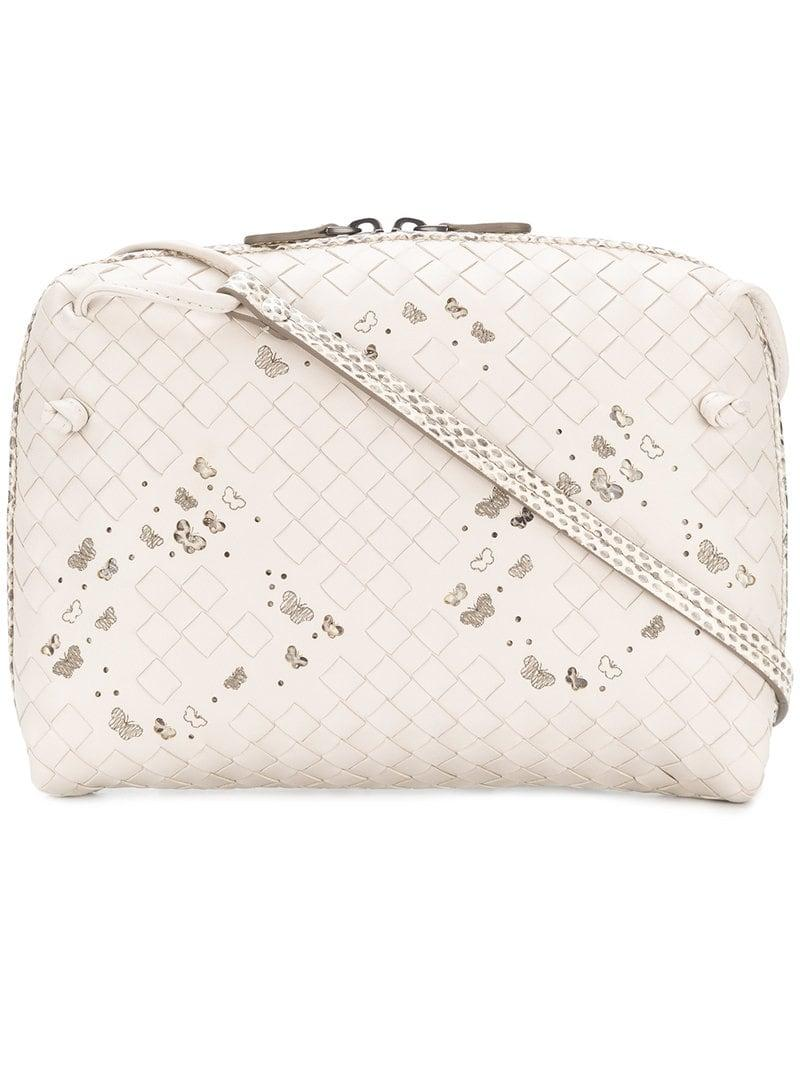 a4f327ddfb Lyst - Bottega Veneta Butterfly-print Crossbody Bag in Natural ...