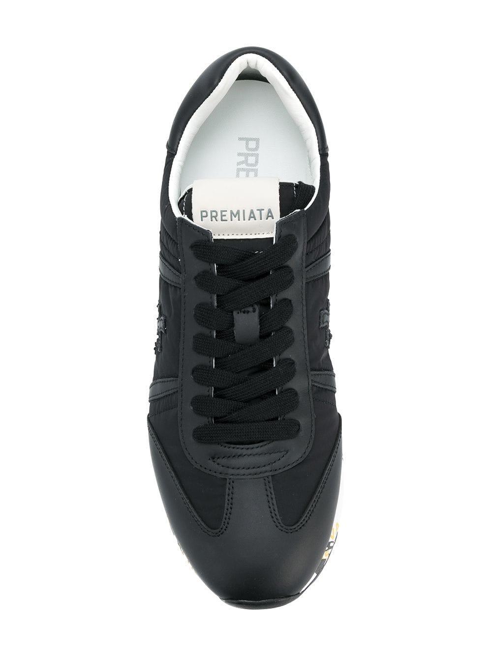 Premiata Leer Sneakers in het Zwart voor heren