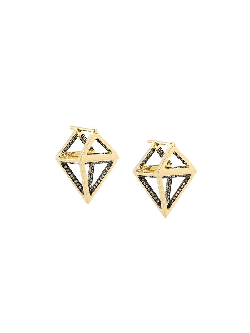 Noor Fares Octahedron earrings - Metallic PiSTTSS