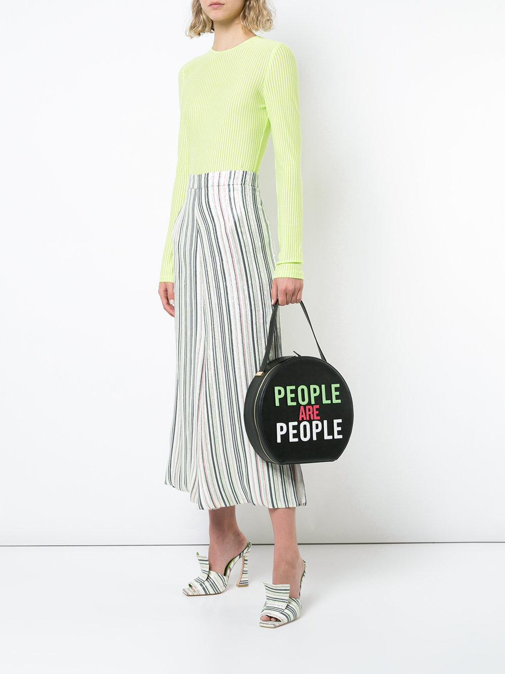 Christian Siriano People Are People Shoulder Bag In Black