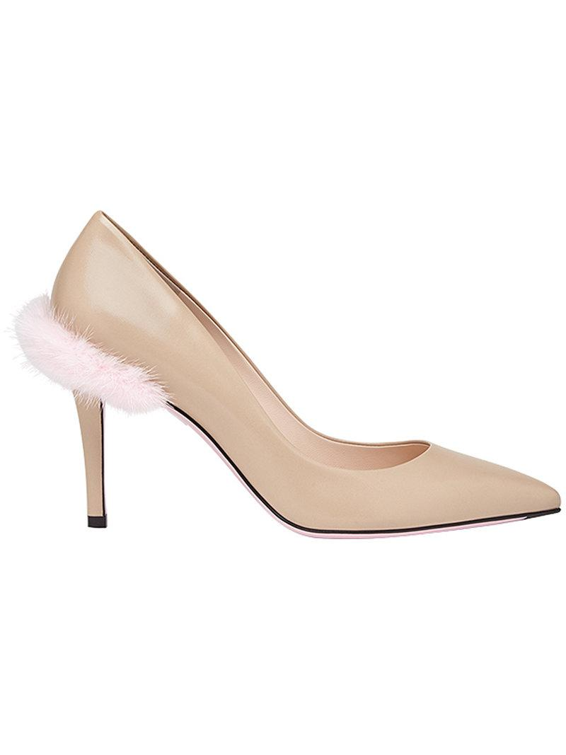 Fendi Touch of Fur court pumps sale really sale low shipping fee lowest price cheap online buy cheap big sale xCbEipI
