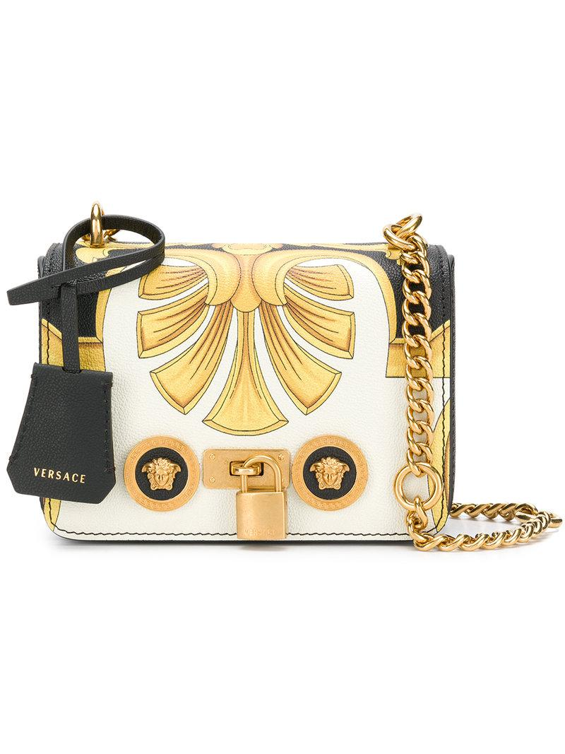 35ff5809c69b Versace - White Small Icon Shoulder Bag - Lyst. View fullscreen