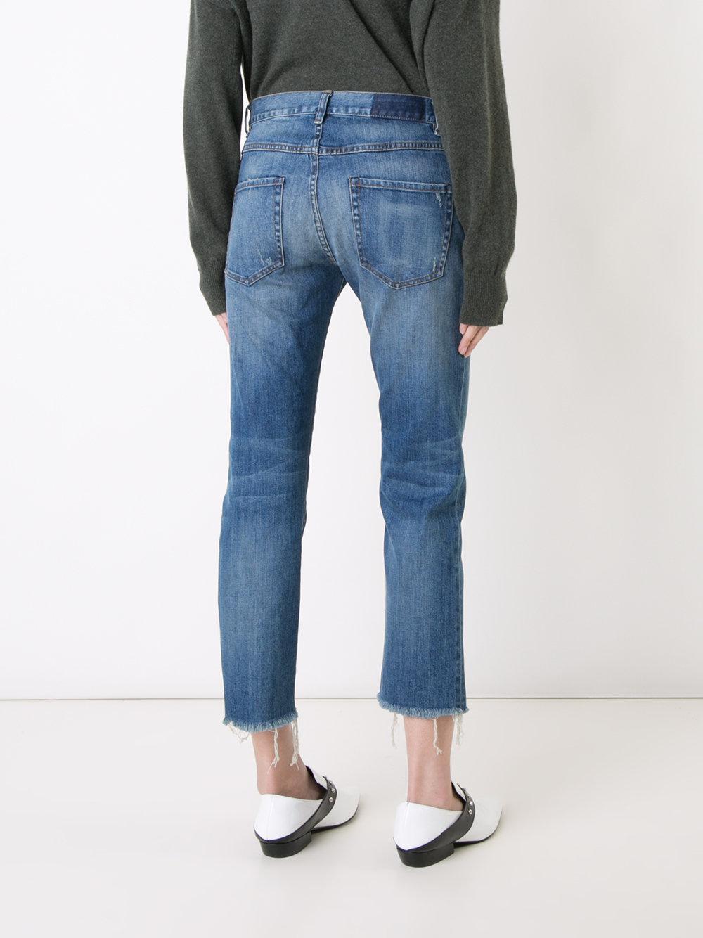 Nili Lotan Denim Cropped Jeans in Blue