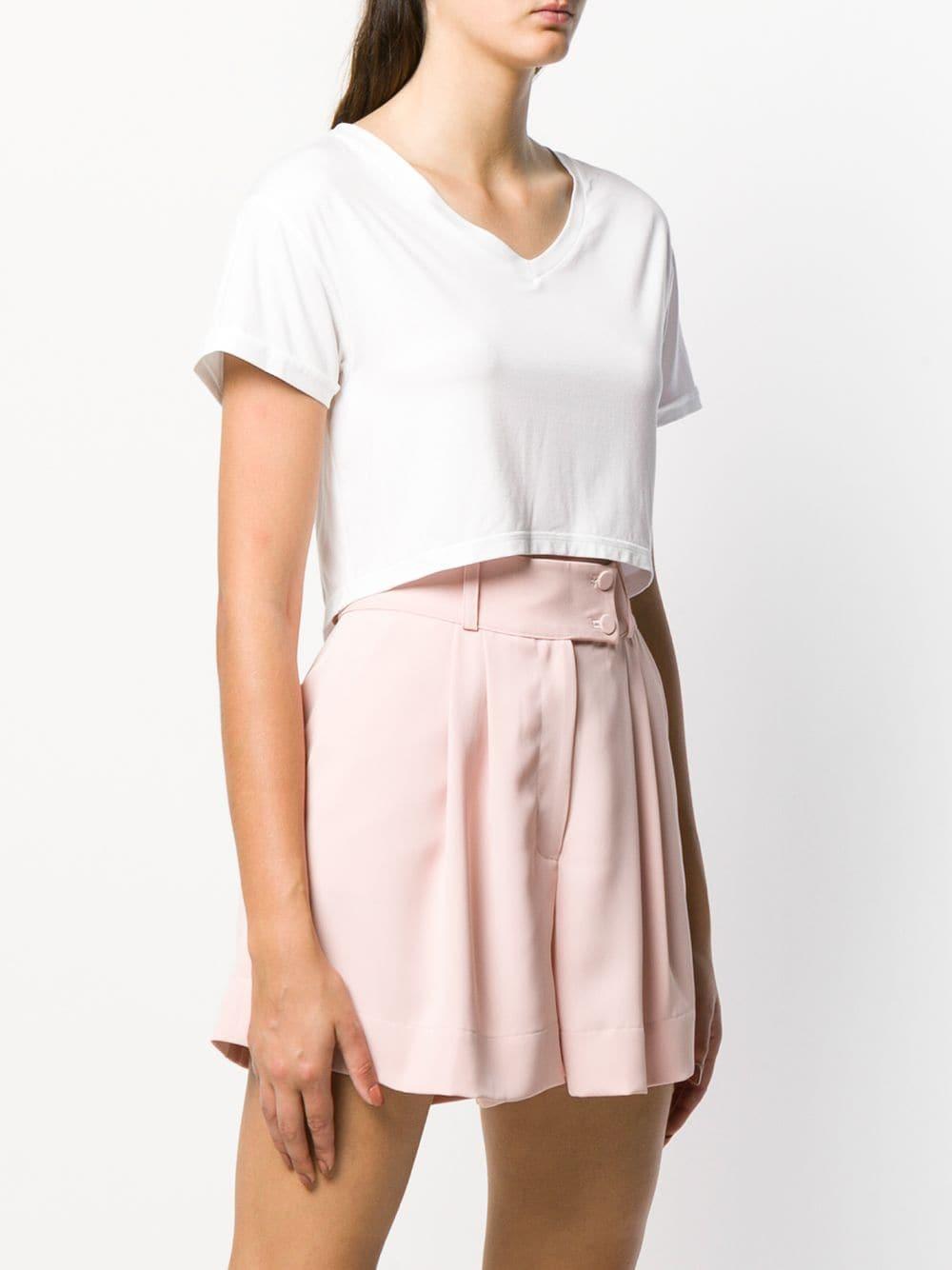 Camiseta corta Styland de Tejido sintético de color Blanco